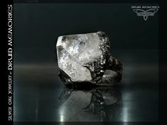 "Apophyllite druid magic ring ""Baraturento"", mens of womens ring with power of gods Temple."