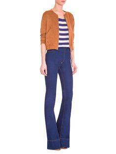 Calça Feminina Flare Cintura Alta - Farm - Azul - Shop2gether
