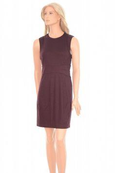 Diane von Furstenberg Str 10 Gretchen Red Wool Knee-Length Cocktail Dress