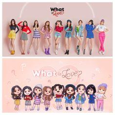 """TWICE """"What is Love?"""" Fanart Kpop Girl Groups, Korean Girl Groups, Kpop Girls, Twice Mv, Twice Kpop, Twice What Is Love, Cute Chibi, Chibi Boy, Twice Fanart"""