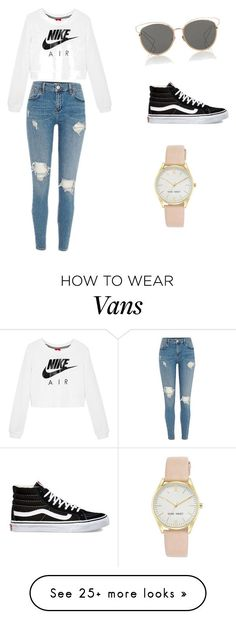 """It's everyday bro"" by soreya02 on Polyvore featuring Christian Dior, NIKE, Vans and Nine West"