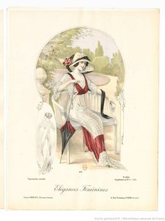 From Élégances féminines. Revue mensuelle de la grande couture parisienne 1912. Dress by ?