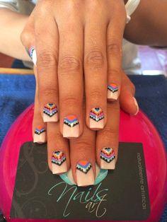 Nails+art,+acrylic+nails,+tribal+nails.jpg 736×981 pixels