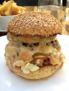 Admiral Codrington Double Cheese Stack, currently available in One Cheese Stack.  Courtesy of Burgerac, available at Admiral Codrington.