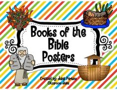 Perfect for a Sunday School classroom or other Christian classroom!  I created these because I wanted something to show the books of the Bible in order, so students could see those at a glance.  It makes great decoration for the Sunday School classroom (I think at the top of the walls, like an alphabet over the board, is a great location for these).