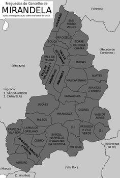 Freguesias do concelho de Mirandela