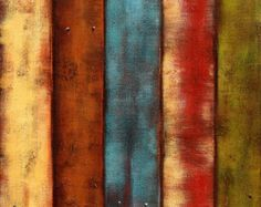 Western Painting, Large Abstract Wall Art, Textured Acrylic Country Art Print, Barnwood Art