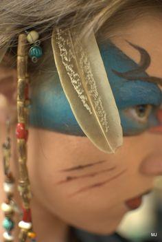 Beautiful tribal warrior makeup and handmade headdress  #fxmakeup
