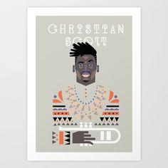 christian scott Art Print by atipo - $18.00