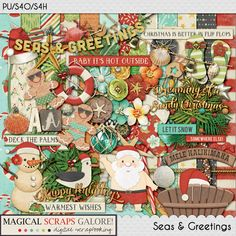{Seas & Greetings} Digital Scrapbook Collection by Magical Scraps Galore, available at Gingerscraps and The Digichick http://store.gingerscraps.net/Seas-and-Greetings-collection.html    http://www.thedigichick.com/shop/Seas-and-Greetings-collection.html   #magicalscrapsgalore