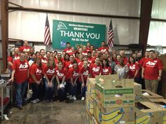 Aon Global Service Day 2013: Thank you to Marriot for partnering with our Aon colleagues at the Northern IL Food Bank! — at Northern Illinois Food Bank.