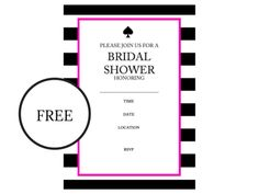 free kate spade bridal shower invitations