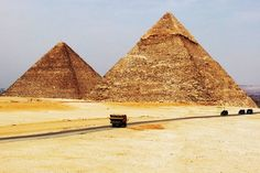 The ancient Egyptians built pyramids as tombs for the pharaohs and their queens. The pharaohs were buried in pyramids of many different shapes and sizes from before the beginning of the Old Kingdom to the end of the Middle Kingdom. ©Henry Oliver