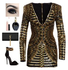 A fashion look from May 2016 featuring long sleeve v neck dress, giuseppe zanotti shoes and monogrammed handbags. Browse and shop related looks. Passion For Fashion, Balmain, Jimmy Choo, Yves Saint Laurent, Fashion Looks, Glamour, Fashion Outfits, My Style, Chanel