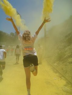 The Color Run! Happiest 5k on the planet :) First 5k Ever!