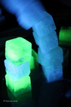 glow-in-the-dark ice