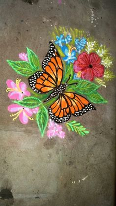 Ideas Bird Painting Easy Canvases For 2019 3d Rangoli, Rangoli Patterns, Rangoli Ideas, Simple Rangoli, Rangoli Designs Latest, Rangoli Designs Diwali, Kolam Designs, Latest Rangoli, Small Rangoli Design