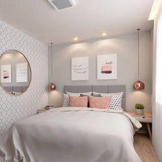 Wallpaper bedroom teenager teenagers 62 new Ideas Cozy Small Bedrooms, Small Bedroom Designs, Wc Decoration, Modern Master Bedroom, Teen Girl Bedrooms, Home Decor Bedroom, Bedroom Ideas, Unique Home Decor, Room Inspiration