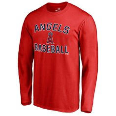 Los Angeles Angels of Anaheim Victory Arch Long Sleeve T-Shirt - Red