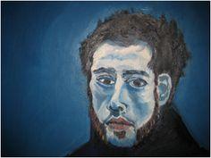 피카소, <자화상>, 1902  청색 시대의 피카소는 친구 까를로스 카사헤마스의 자살로 인해 충격 받은 상태였으며 친구의 죽음과 더불어 가난, 슬픔, 고독이 그의 그림에 나타난다.