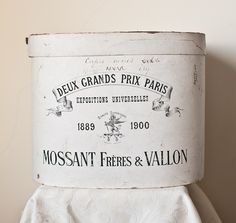 c. 1900 French Hat Box ~ Expositions Universelles by jannyshere
