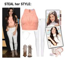 """""""Steal her style: Camila Cabello"""" by stellastellahankinson ❤ liked on Polyvore featuring Frame"""