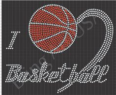 Rhinestone Basketball Sports Template Game Bling Pattern System Athletics Color Ball
