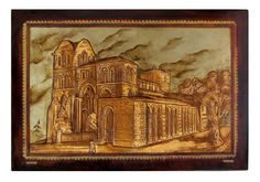 The Basilica de San Vicente is a church in Ávila, Spain. It is one of the best examples of Romanesque architecture in the country. You can see both a picture of the basilica as our adaptation embossed leather. You propose, we make it possible!