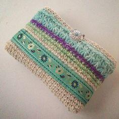 crochet clutch bag bolsito coqueto de mano