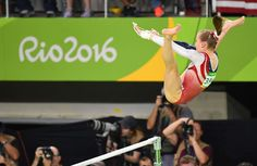 Gymnastics at the Rio Olympics  -     Madison Kocian (USA) during the women's team finals in the Rio 2016 Summer Olympic Games at Rio Olympic Arena.