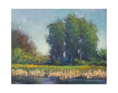 ARTFINDER: River's Edge by Don Bishop - River's Edge is a nice colorful impressionist landscape oil painting. This piece was painted plein air, on location and was created with palette knives and ...