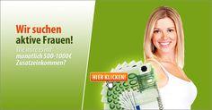 Wie wäre es mit monatlich 500-1000€ Zusatzeinkommen?