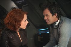 """Natasha Romanoff/Black Widow (Scarlett Johansson, left,) and Bruce Banner/Hulk (Mark Ruffalo) in a scene from the motion picture """"Avengers: Age Of Ultron."""" CREDIT: Jay Maidment, Marvel [Via MerlinFTP Drop] Avengers Black Widow, Black Widow And Hulk, Black Widow Scarlett, Avengers Film, Avengers Cast, Marvel Avengers, Marvel Heroes, Marvel Characters, Marvel Movies"""