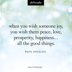 our wish for you is joy. ‪#‎giftsofjoy‬