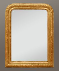 Miroir ancien louis philippe dorure patin or miroir for Miroir louis philippe