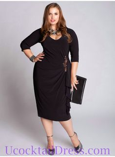 How To Choose Plus Size Cocktail Dresses | Red Lace Dress