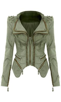 I have this in a deep almost burgundy red, but it makes me feel like Michael Jackson. This green might have been better, but it wasn't on sale lol