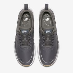 reputable site 12b96 0335c Chaussure Nike Air Max Thea Pas Cher Femme et Homme Premium Gris Fonce  Jaune Gomme Blanc