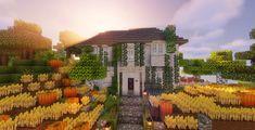 ] a small vanilla minecraft server Minecraft Mansion, Minecraft Cottage, Easy Minecraft Houses, Minecraft Plans, Minecraft Decorations, Minecraft Construction, Minecraft Tips, Minecraft Bedroom, Minecraft Blueprints