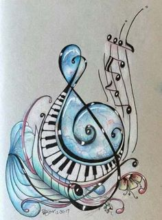 New music painting inspiration treble clef 15 ideas Music Tattoo Designs, Music Tattoos, Music Staff Tattoo, Music Painting, Music Artwork, Musik Wallpaper, Music Notes Art, Pictures Of Music Notes, Musik Illustration