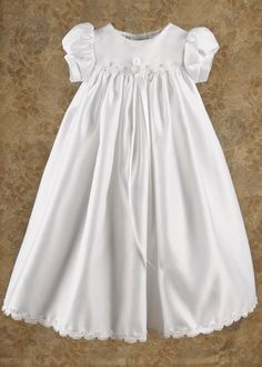 Ashley Satin Christening Gown
