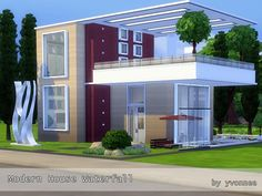 Modern house for singles and couples. Modern and comfortable. Wonderful garden with two great swimmingpools. I hope your sims will like it ! Found in TSR Category 'Sims 4 Residential Lots'