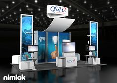 Nimlok specializes in custom and custom modular exhibits. For QSSI we built a large-scale booth solution to meet their marketing needs.