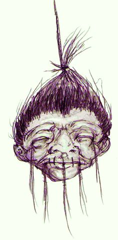 thinking about doing a shrunken head thing for halloween...