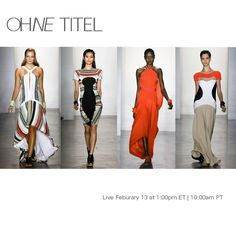 Watch Ohne Titel LIVE with exclusive photo and text updates happening both on & off the runway.