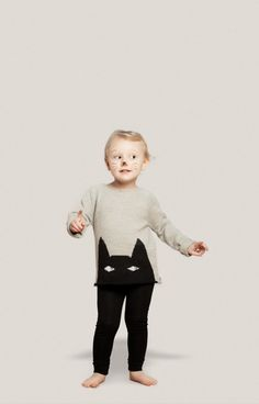 Oeuf NYC, la collection Imaginarium Quirky everyday clothes for children that can be worn as a dress up costume as well. Fashion Kids, Little Fashion, Fashion Night, Cute Kids, Cute Babies, Baby Kids, Kids Mode, Cat Sweaters, Kid Styles
