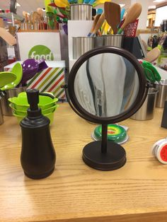 Makeup mirror and soap dispenser from Kohl's