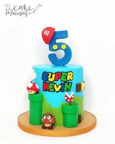 Super Kevin to the rescue!🍄 How awesome is this Super Mario cake we did this weekend! Tag a friend who loves Super Mario! Mario Birthday Cake, 6th Birthday Cakes, Super Mario Birthday, Super Mario Party, Super Mario Cupcakes, Bolo Super Mario, Little Boy Cakes, Cakes For Boys, Gym Cake