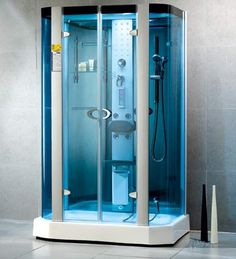 Our Freestanding Glass Shower Enclosure with running water was ...