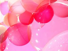 Pink Balloons by tanakawho Pink Balloons, Red Balloon, Clear Balloons, Balloon Ideas, Gold Bar Stools, I Believe In Pink, Orange Is The New, Everything Pink, My Favorite Color